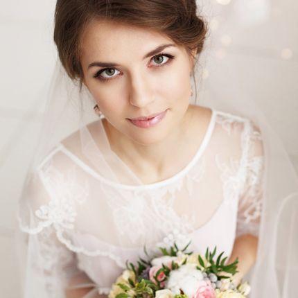 Свадебная причёска + макияж