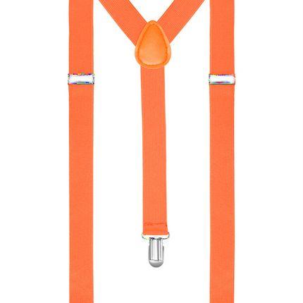 Подтяжки неоново-оранжевые