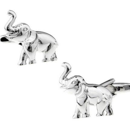 Запонки слоники