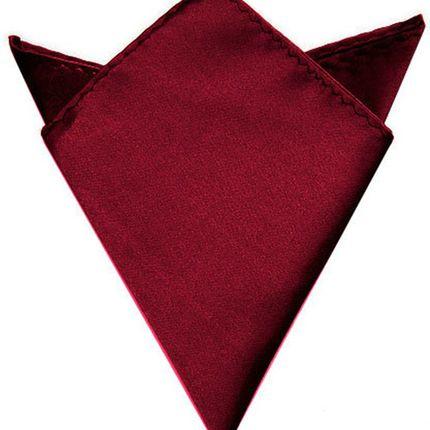 Нагрудный платок атласный бордовый