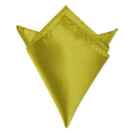 Нагрудный платок атласный желтый
