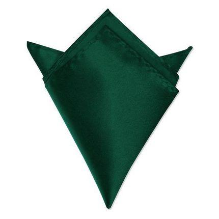 Нагрудный платок атласный изумрудный