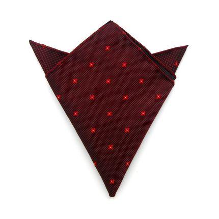 Нагрудный платок бордовый в цветочек