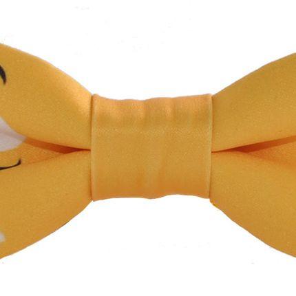 Галстук-бабочка дизайнерская M&Ms желтая