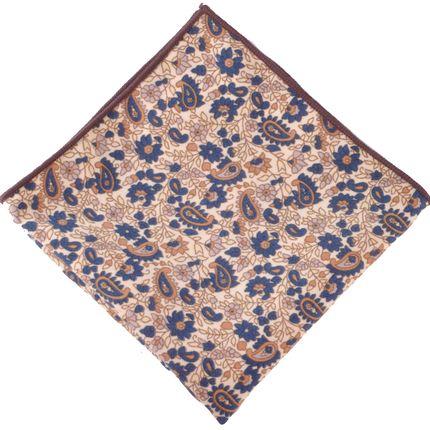 Нагрудный платок бежевый пейсли