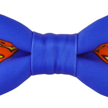 Галстук бабочка синего цвета Супермен