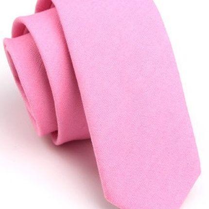 Галстук матовый однотонный розовый