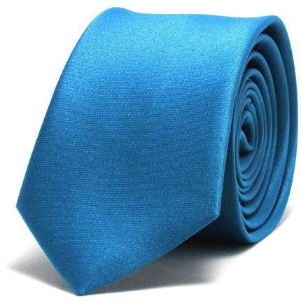 Галстук атласный синий