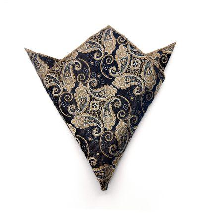 Нагрудный платок темно-синий с шелкографией