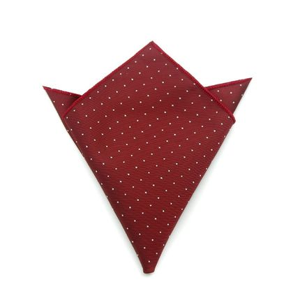 Нагрудный платок бордовый в горошек