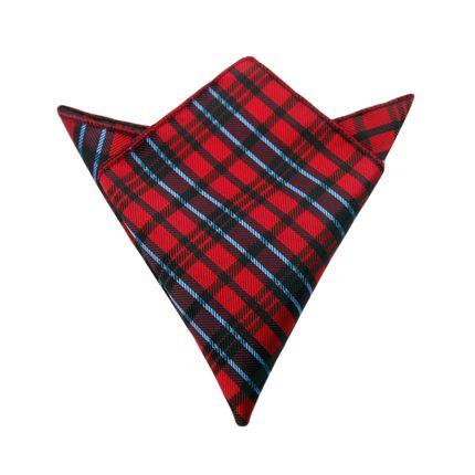 Нагрудный платок красный в шотландскую клетку