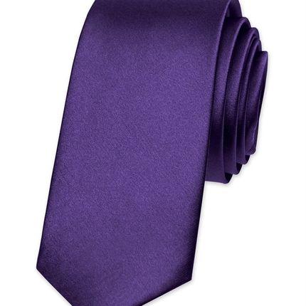 Галстук атласный королевский пурпурный Крайола