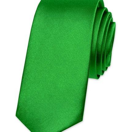 Галстук атласный ярко-зеленый