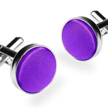 Запонки однотонные фиолетовые