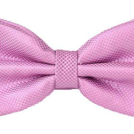 Галстук-бабочка розовая с ромбовидной текстурой
