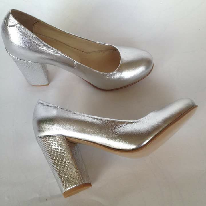 Туфли свадебные из натуральной кожи