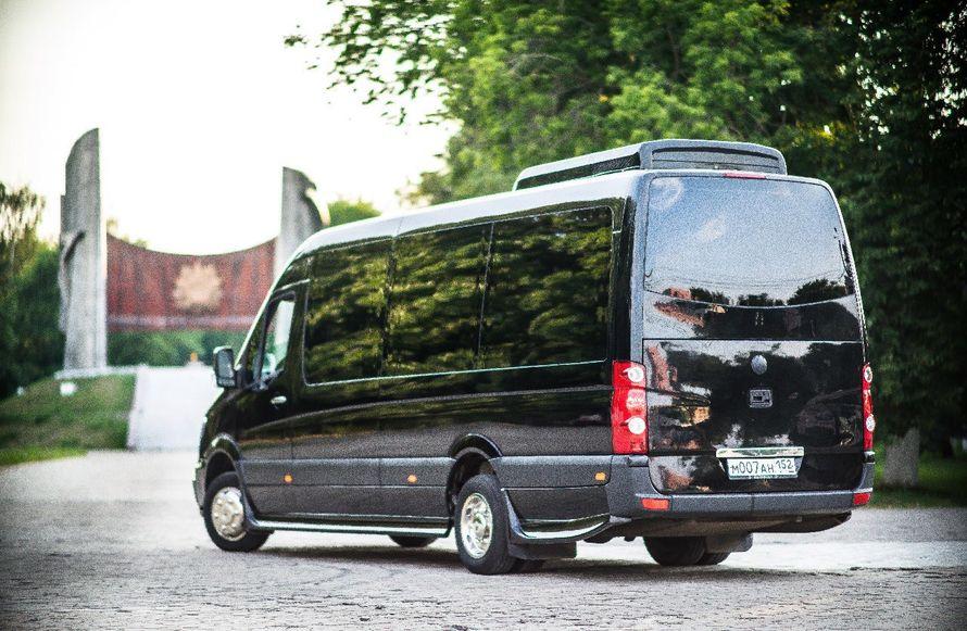"""- Mercedes Sprinter Люкс VIP (чёрный) 17 (16+1) мест (климат-контроль, 2 телевизора) - фото 13986324 Транспортная компания """"Алмаз авто"""""""