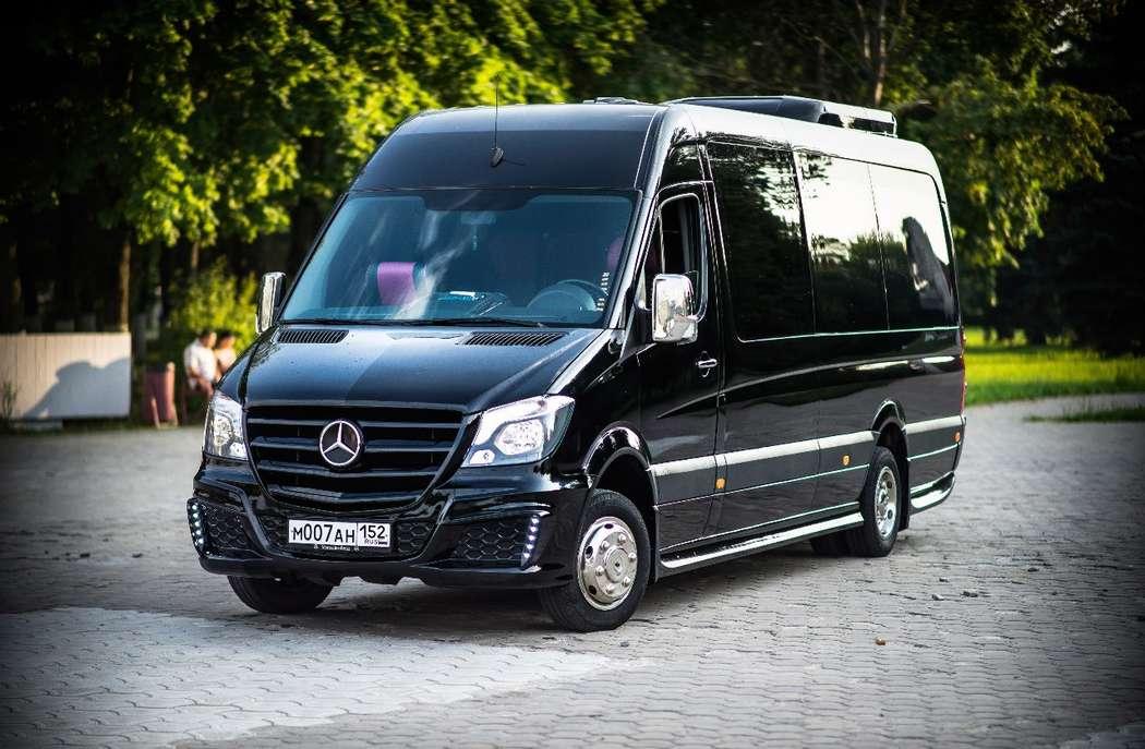 """- Mercedes Sprinter Люкс VIP (чёрный) 17 (16+1) мест (климат-контроль, 2 телевизора) - фото 13986330 Транспортная компания """"Алмаз авто"""""""