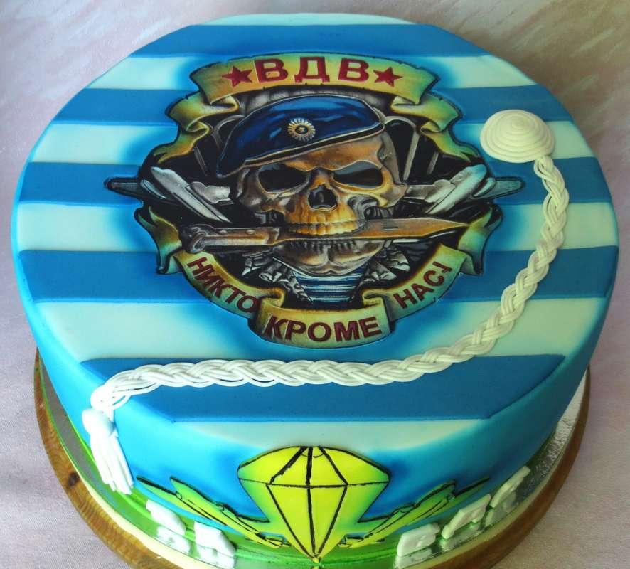Торт ВДВ с использованием пищевой печати. - фото 15316696 Кондитер Ирина К.