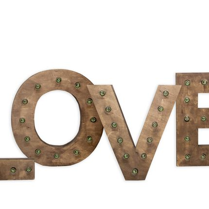 Аренда слова Love, цена за 3 суток