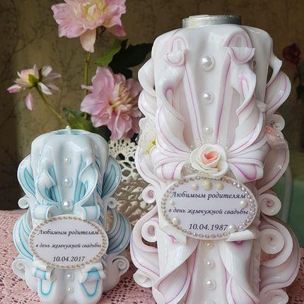 Набор свечей с надписью или фото