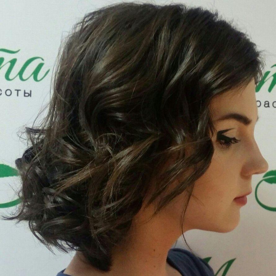 Укладка на короткие волосы