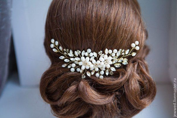 Как делать свадебные украшения для волос