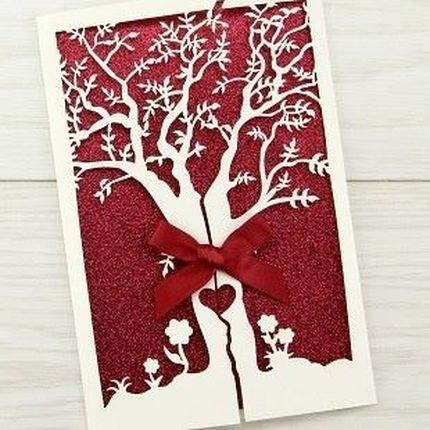 """Свадебные приглашения """"Дерево любви"""", цена за 1 шт"""