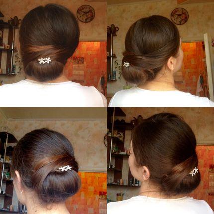 Причёска Классический пучок