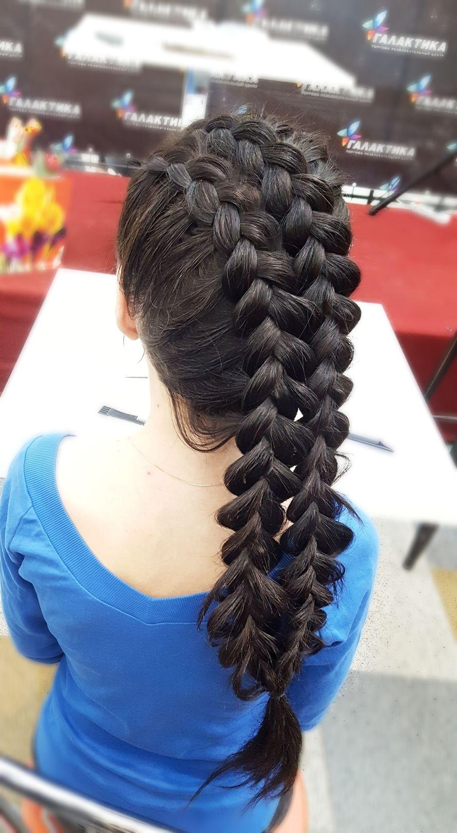 Любые виды причёсок из кос