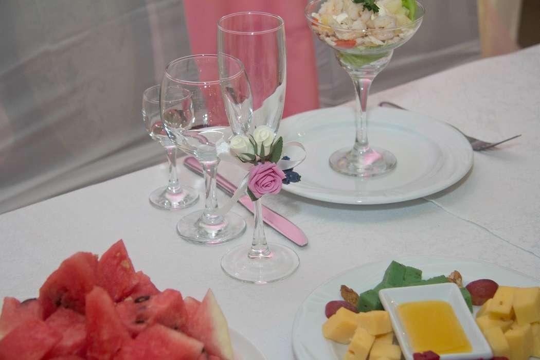 Оформление бокалов - фото 14463274 Свадебный декор от Ольги Луниной