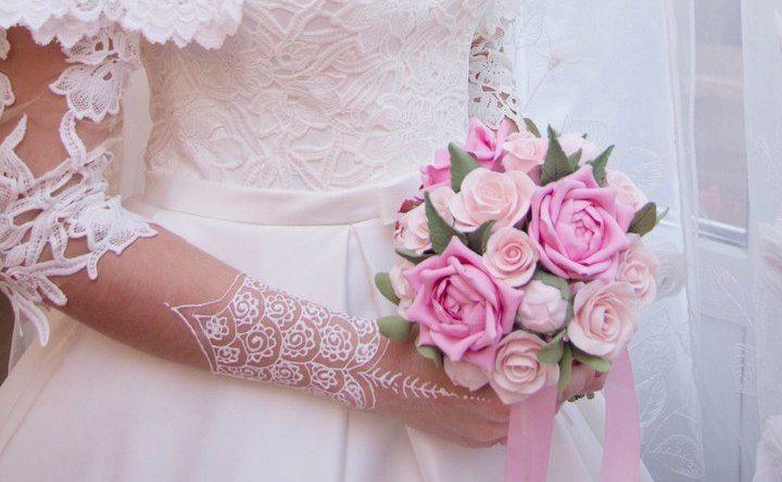 Букет из полимерной глины - фото 14463312 Свадебный декор от Ольги Луниной
