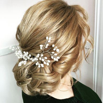 Прическа невесты (волосы до плеч)
