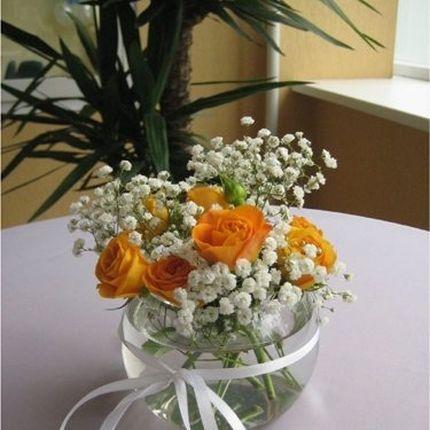 Букеты на столы гостей в вазах, цена за 1 шт