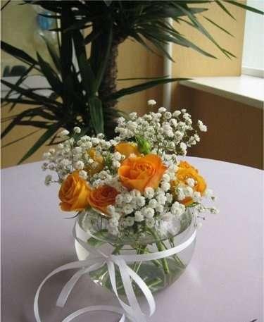 """Букеты в вазочках на столы гостей из живых цветов - фото 15109868 """"Castle.kz"""" - design studio"""