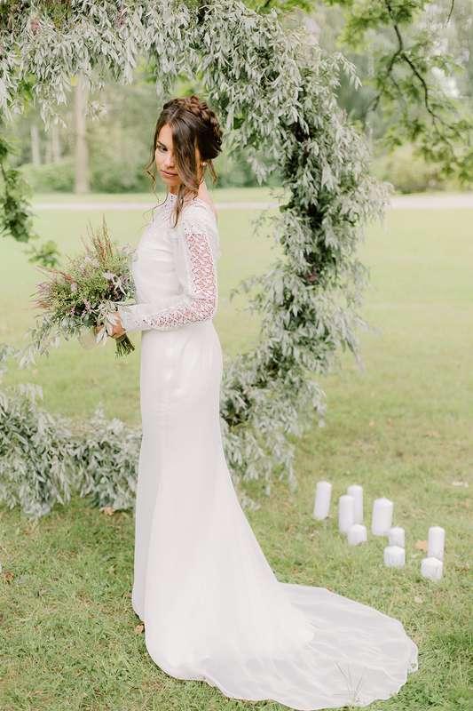 Платье Мерида цвет - молоко р-р 38-54 стоимость 33000 руб - фото 17642386 Свадебный салон Tavifa