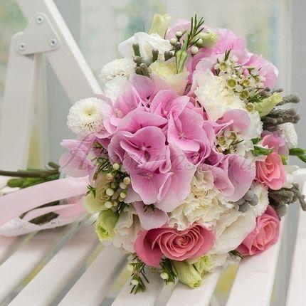 Букет невесты Розовые облака