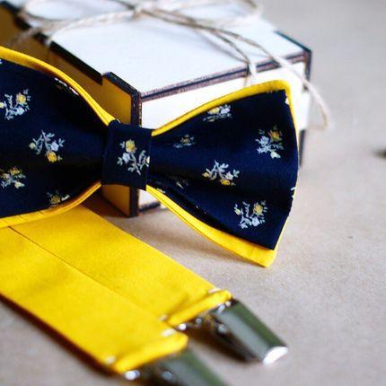 Галстук-бабочка и подтяжки