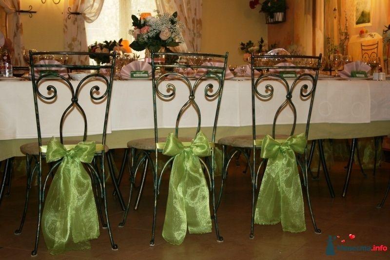 Драпировка стульев бантами из органзы.  - фото 91717 Вашкетова Юлия - организатор свадеб, флорист.