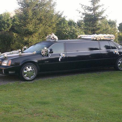 Прокат чёрного лимузина Cadillac с водителем, цена за 1 час