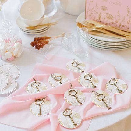 Карточки расскадки-подарок для гостей Gold Rose