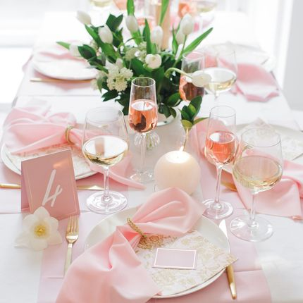 "Декор стола на 8 гостей ""Gold rose"""