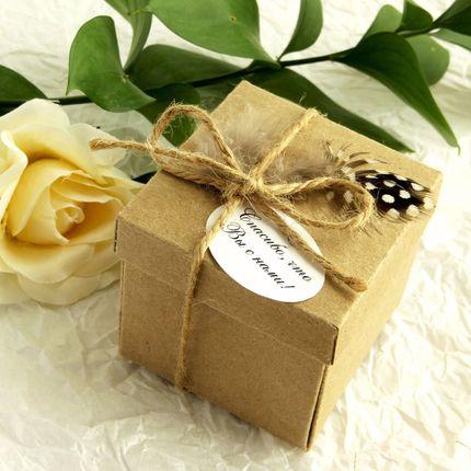 Бонбоньерки в форме коробочки, цена за 1 шт