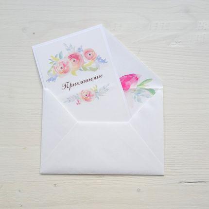 Пригласительное с акварельным цветочным принтом