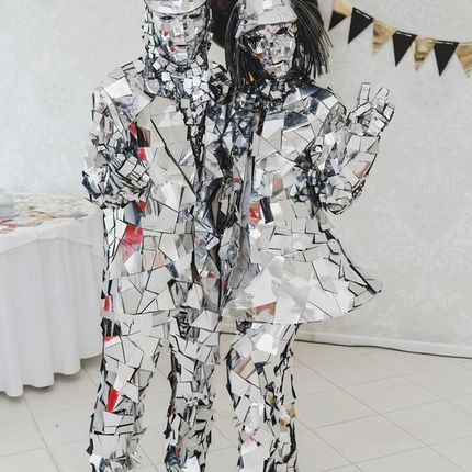 Шоу зеркальных людей Mirrir show