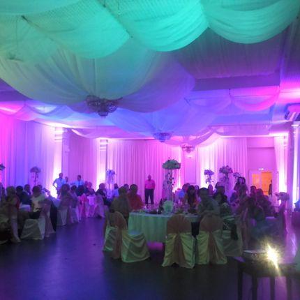 Световое оформление свадебного зала