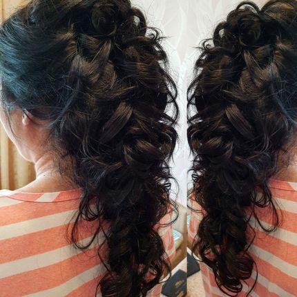 Причёски для длинных и коротких волос