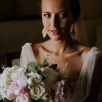 Букет невесты + бутоньерка жениха