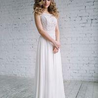 Прямое свадебное платье на пудровом подкладе, размер 42,44,46