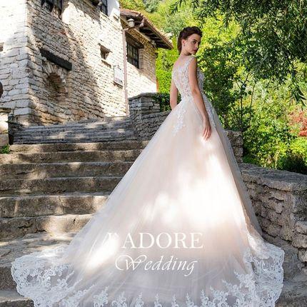 Свадебное платье со съёмным шлейфом Микаэла